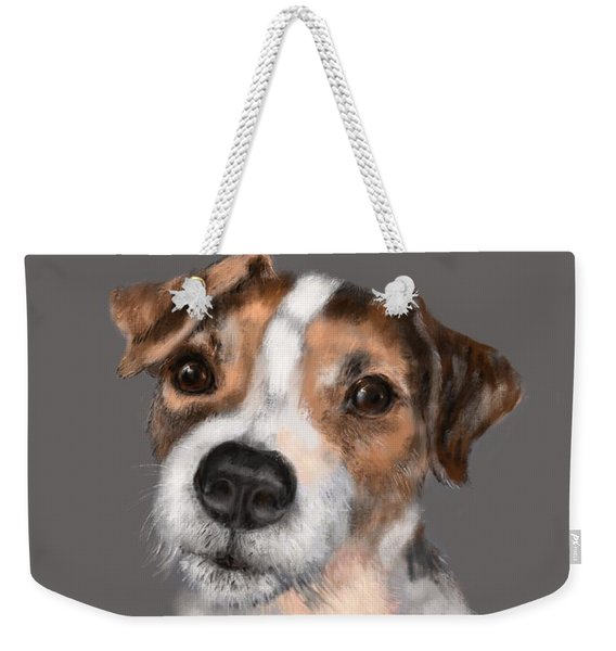 Weekender Tote Bag featuring the digital art Jackson At Sunset by Lora Serra
