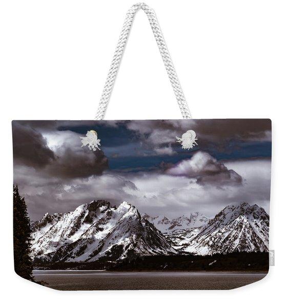 Jackson Lake Peaks Weekender Tote Bag