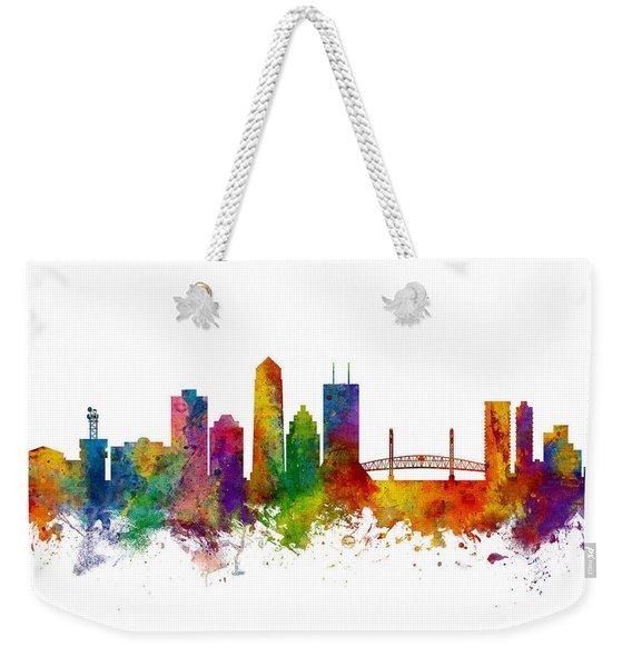 Jacksonville Florida Skyline Weekender Tote Bag