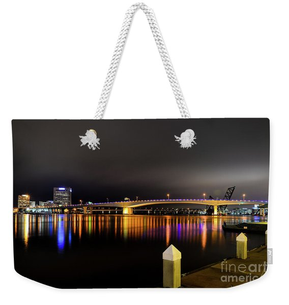 Jacksonville Night Sky Weekender Tote Bag