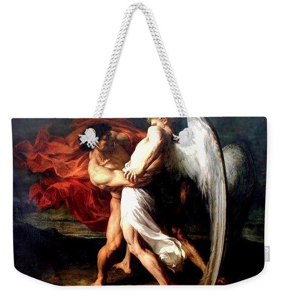 Jacob Wrestling With The Angel Weekender Tote Bag