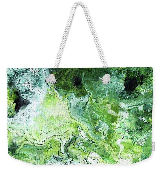 Jade- Abstract Art By Linda Woods Weekender Tote Bag