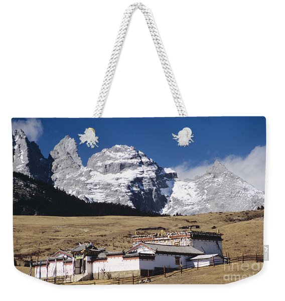 Jade Dragon Snow Mountain Weekender Tote Bag