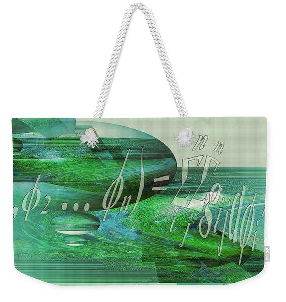 Jade Enigma Weekender Tote Bag