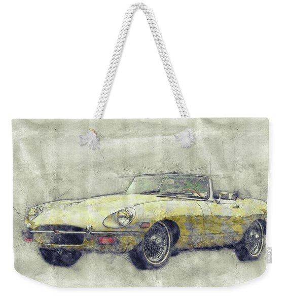 Jaguar E-type 1 - Jaguar Xk-e - Sports Car - Automotive Art - Car Posters Weekender Tote Bag