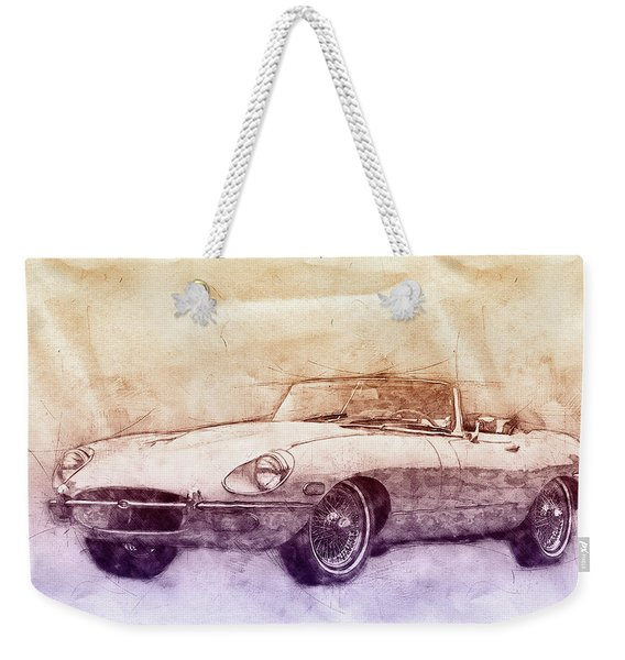 Jaguar E-type 2 - Jaguar Xk-e - Sports Car - Automotive Art - Car Posters Weekender Tote Bag