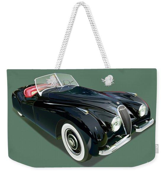 Jaguar Xk 120 Illustration Weekender Tote Bag