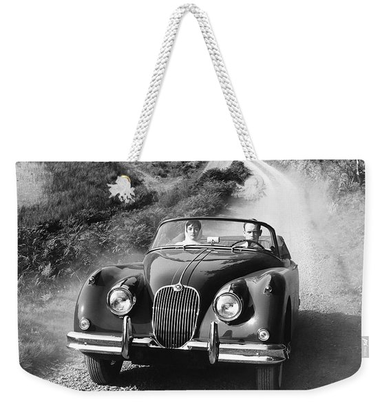Jaguar Xk 150 Drophead Coupe Weekender Tote Bag