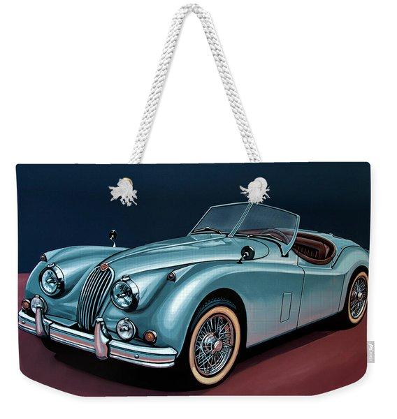 Jaguar Xk140 1954 Painting Weekender Tote Bag