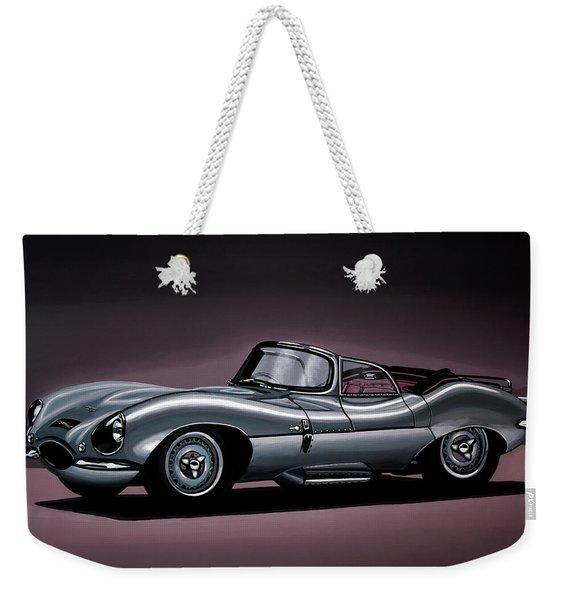 Jaguar Xkss 1957 Painting Weekender Tote Bag