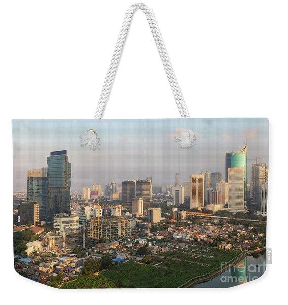 Jakarta Urban Skyline In Indonesia Weekender Tote Bag