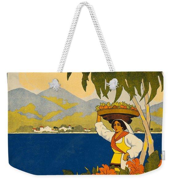 Jamaica  Vintage Travel Poster Weekender Tote Bag