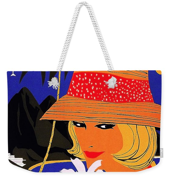 Jamaica, Woman With Orange Hat Weekender Tote Bag
