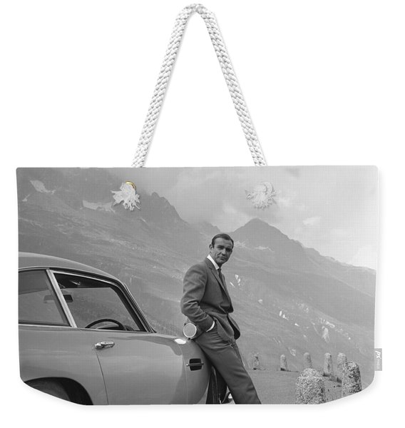 James Bond And His Aston Martin Weekender Tote Bag