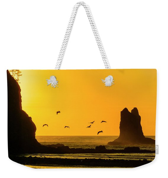 James Island And Pelicans Weekender Tote Bag