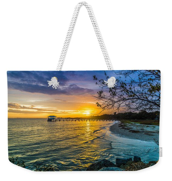 James Island Sunrise - Melton Peter Demetre Park Weekender Tote Bag