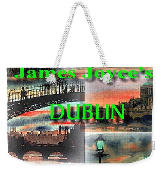 James Joyce's Dublin Weekender Tote Bag