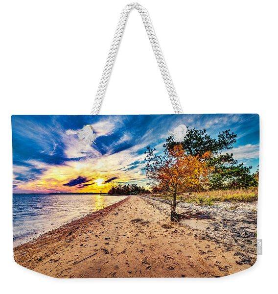 James River Sunset Weekender Tote Bag