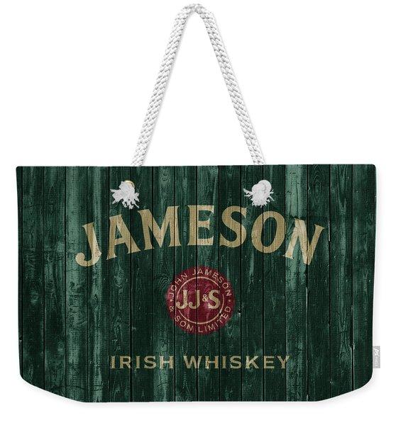 Jameson Irish Whiskey Barn Door Weekender Tote Bag
