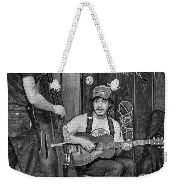 Jammin' In The French Quarter 2 - Paint Bw Weekender Tote Bag