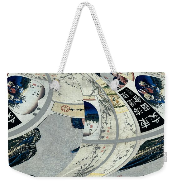Japanese Bold Abstract Weekender Tote Bag