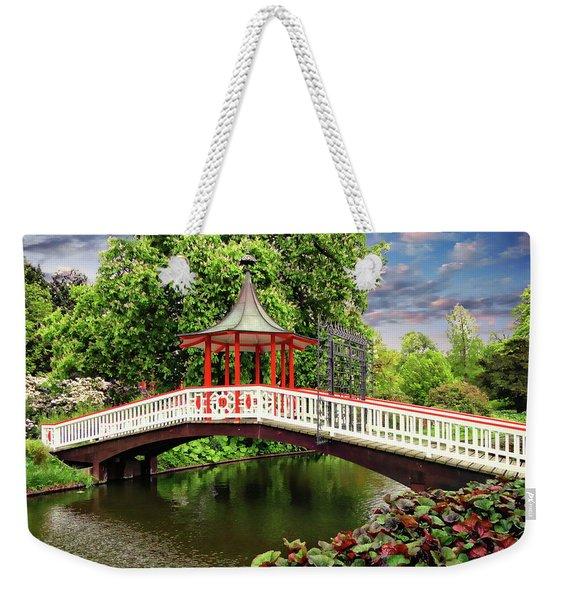 Japanese Bridge Garden Weekender Tote Bag