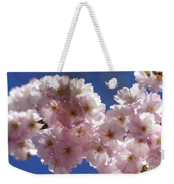 Japanese Flowering Cherry Prunus Serrulata Weekender Tote Bag