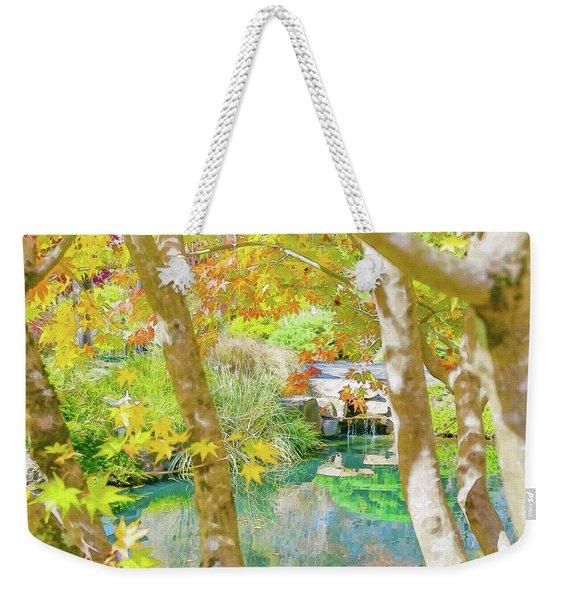 Japanese Garden Pond Weekender Tote Bag