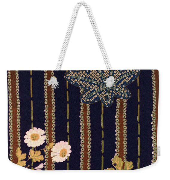 Japanese Maple And Chrysanthemum Modern Interior Art Painting. Weekender Tote Bag