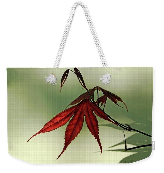 Japanese Maple Leaf Weekender Tote Bag