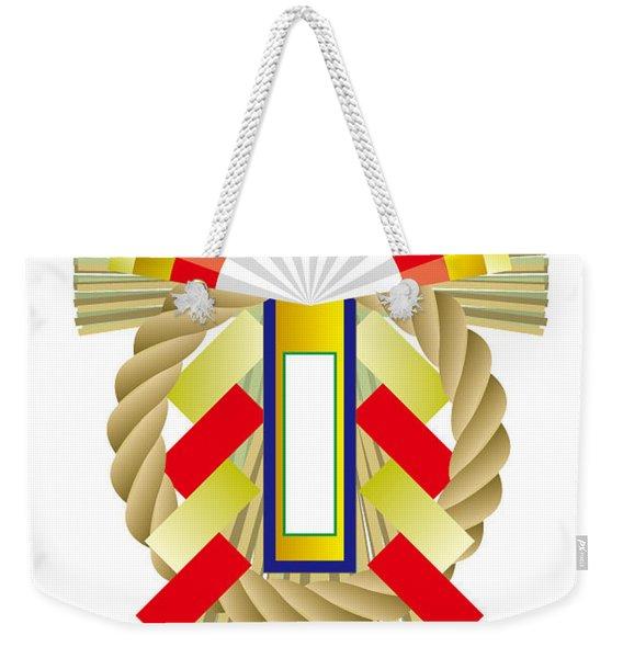 Japanese Newyear Decoration Weekender Tote Bag
