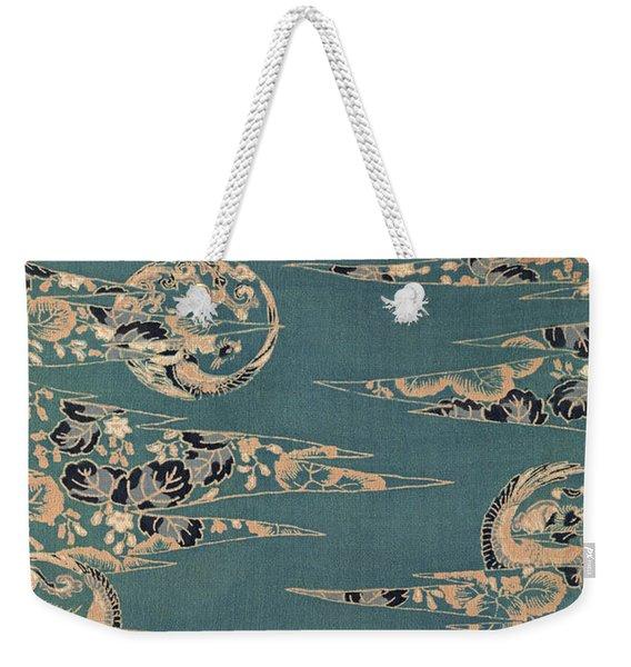 Japanese Phoenix And Hollyhock Interior Art Painting.  Weekender Tote Bag