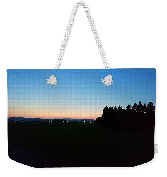 Japanese Scene Night Weekender Tote Bag