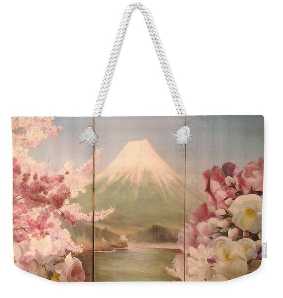 Japanese Spring Weekender Tote Bag