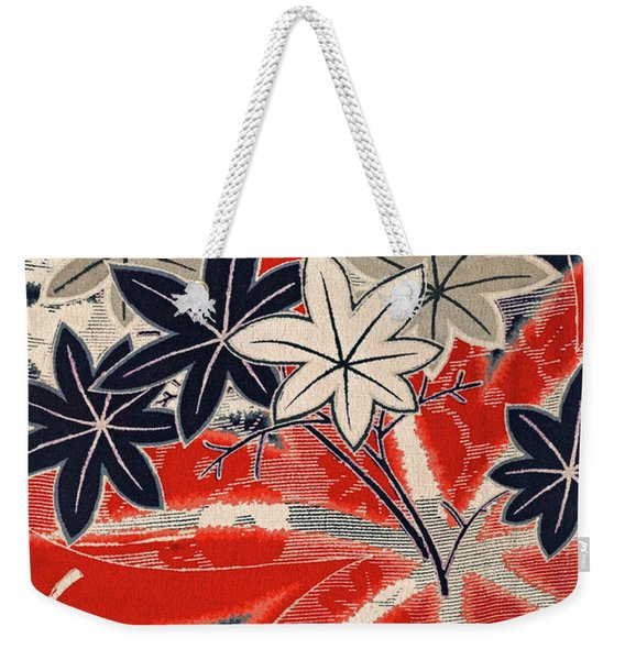 Japanese Style Maple Interior Art Painting. Weekender Tote Bag