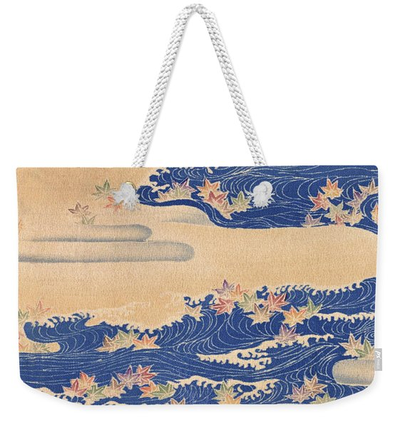 Japanese Style River And Cloud Modern Interior Art Painting. Weekender Tote Bag
