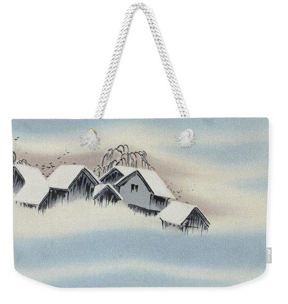 Japanese Style Snow Country Modern Interior Art Painting. Weekender Tote Bag