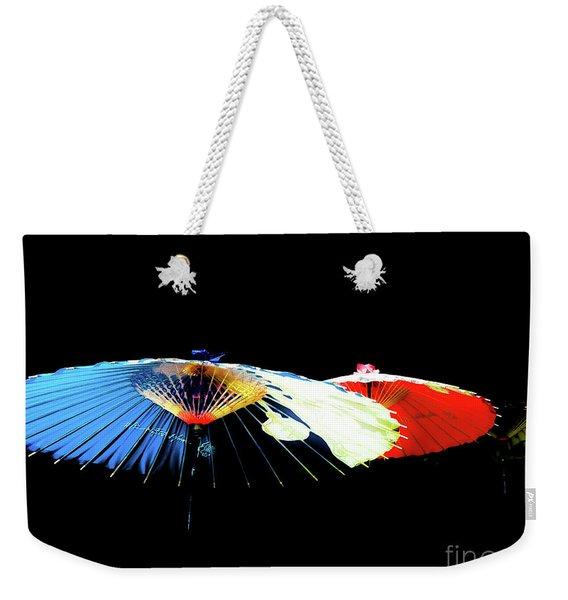 Japanese Umbrellas Assorted Colors Weekender Tote Bag