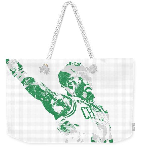 Jaylen Brown Boston Celtics Pixel Art 11 Weekender Tote Bag
