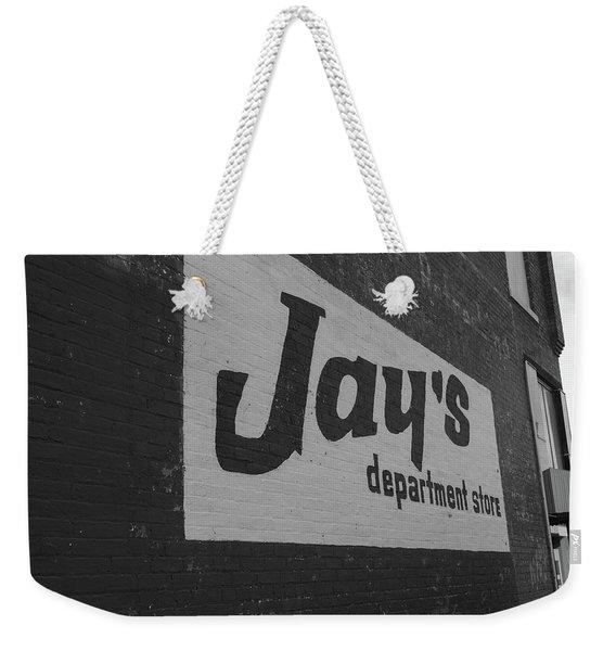 Jay's Department Store In Bw Weekender Tote Bag