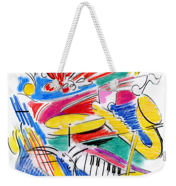 Jazz Art Weekender Tote Bag