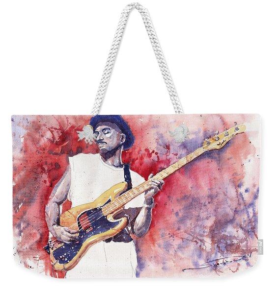 Jazz Guitarist Marcus Miller Red Weekender Tote Bag