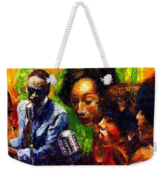Jazz  Ray Song Weekender Tote Bag