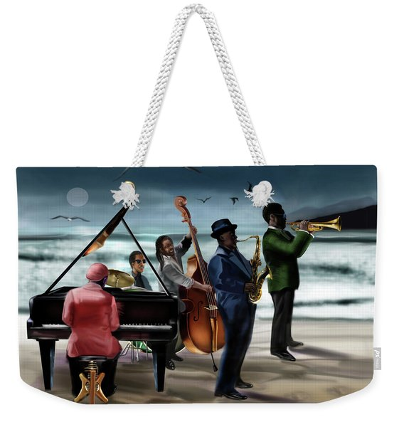 Jazz The Cool Of The Ocean Weekender Tote Bag