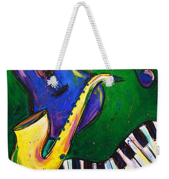 Jazz Time Weekender Tote Bag