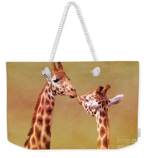 Je T'aime Giraffes Weekender Tote Bag