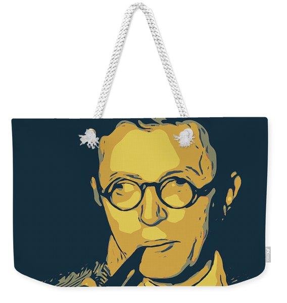 Jean Paul Sartre Weekender Tote Bag