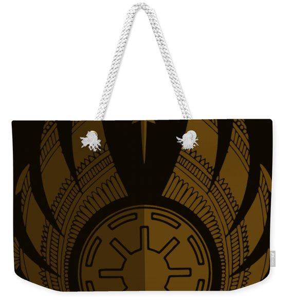 Jedi Symbol - Star Wars Art, Brown Weekender Tote Bag