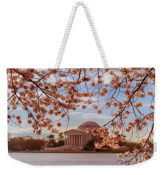 Jefferson Memorial And Cherry Blossom Weekender Tote Bag