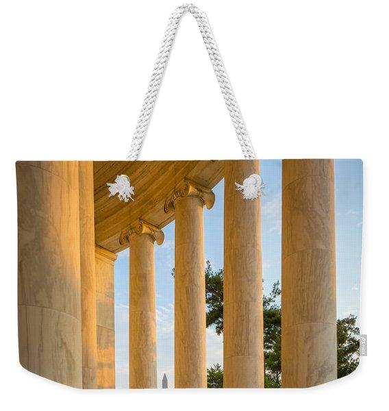 Jefferson Memorial Columns Weekender Tote Bag